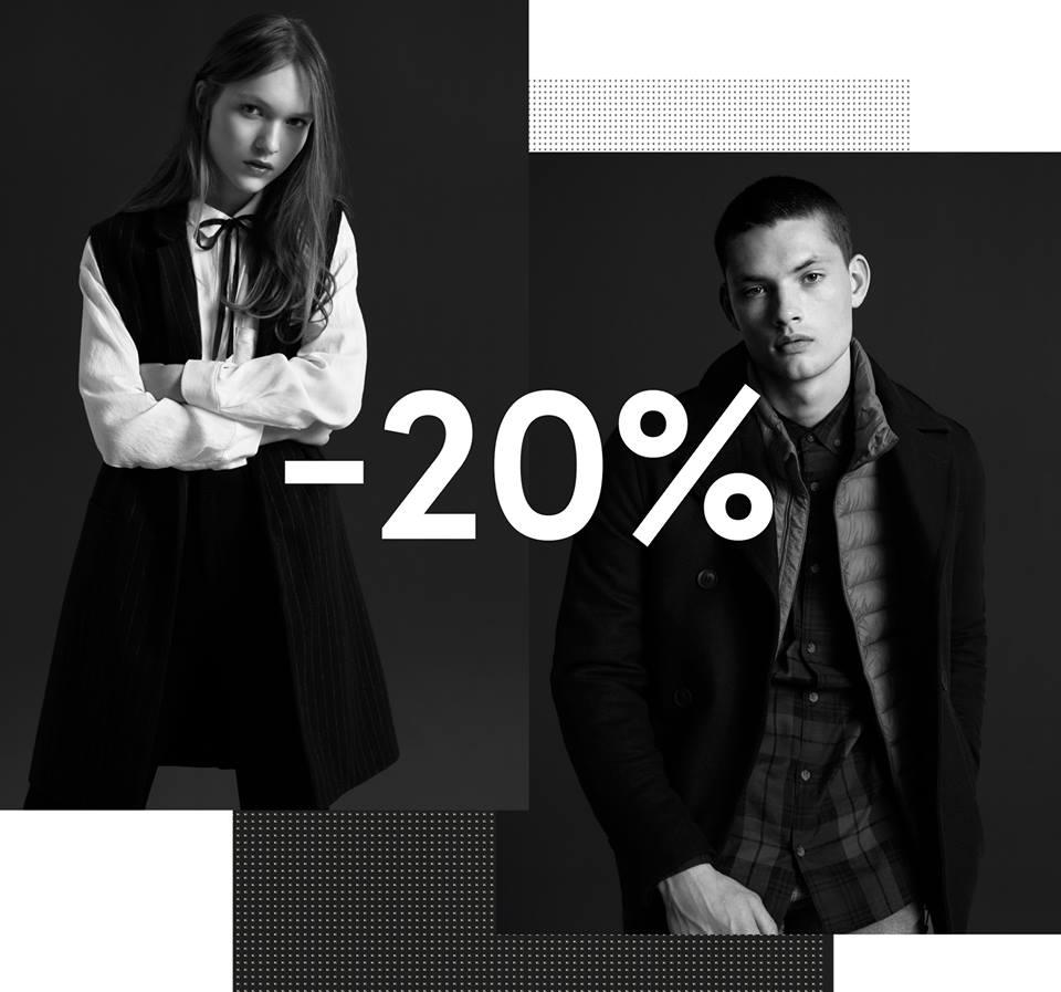 Un 20% en toda la colección hasta las 23 h.