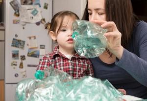 Hora del planeta 2016 reciclado botellas